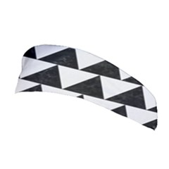 TRIANGLE2 BLACK MARBLE & WHITE LINEN Stretchable Headband