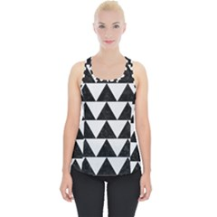 TRIANGLE2 BLACK MARBLE & WHITE LINEN Piece Up Tank Top