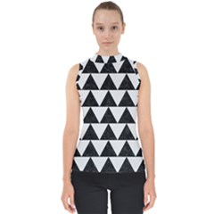 TRIANGLE2 BLACK MARBLE & WHITE LINEN Shell Top