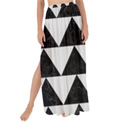 TRIANGLE2 BLACK MARBLE & WHITE LINEN Maxi Chiffon Tie-Up Sarong
