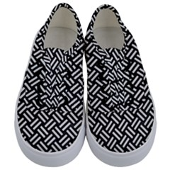 Woven2 Black Marble & White Linen (r) Kids  Classic Low Top Sneakers