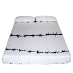 Barbed Wire Black Fitted Sheet (queen Size)