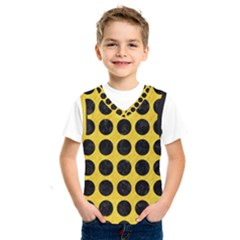 Circles1 Black Marble & Yellow Colored Pencil Kids  Sportswear by trendistuff