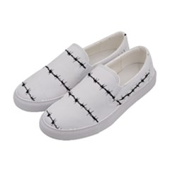 Barbed Wire Black Women s Canvas Slip Ons by Mariart