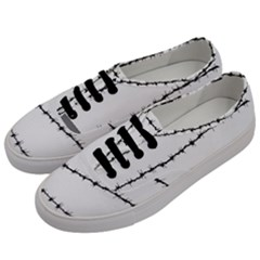 Barbed Wire Black Men s Classic Low Top Sneakers by Mariart