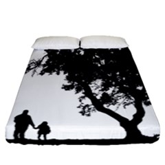 Black Father Daughter Natural Hill Fitted Sheet (queen Size)
