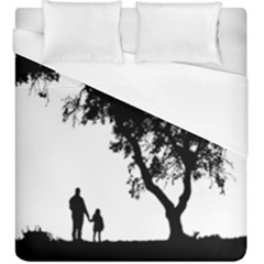 Black Father Daughter Natural Hill Duvet Cover (king Size) by Mariart