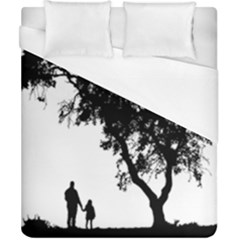 Black Father Daughter Natural Hill Duvet Cover (california King Size) by Mariart