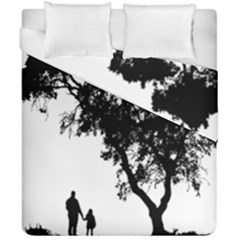 Black Father Daughter Natural Hill Duvet Cover Double Side (california King Size) by Mariart