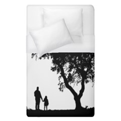 Black Father Daughter Natural Hill Duvet Cover (single Size) by Mariart