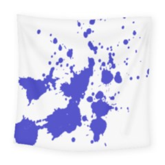 Blue Plaint Splatter Square Tapestry (large) by Mariart