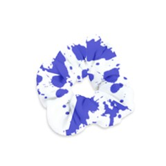 Blue Plaint Splatter Velvet Scrunchie