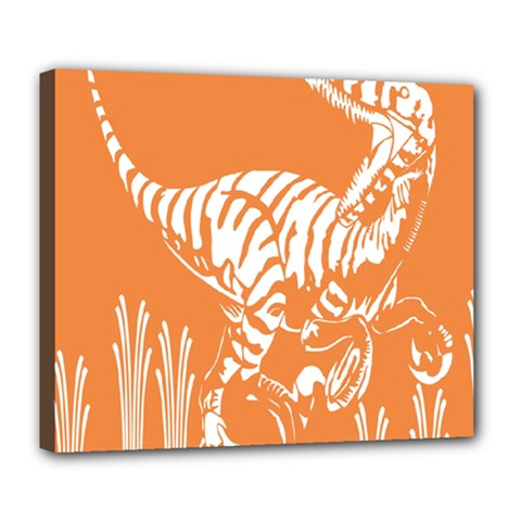 Animals Dinosaur Ancient Times Deluxe Canvas 24  X 20   by Mariart
