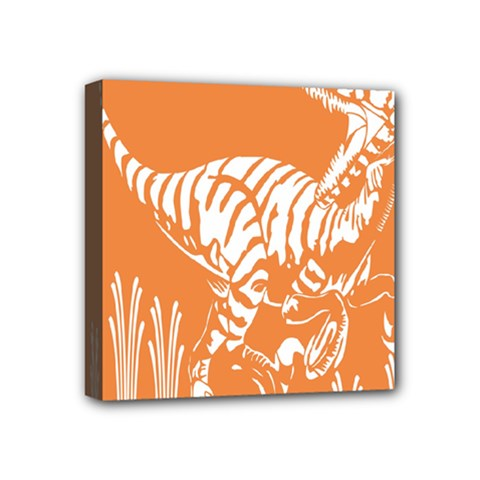 Animals Dinosaur Ancient Times Mini Canvas 4  X 4  by Mariart