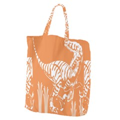 Animals Dinosaur Ancient Times Giant Grocery Zipper Tote