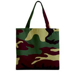 Camuflage Flag Green Purple Grey Zipper Grocery Tote Bag by Mariart