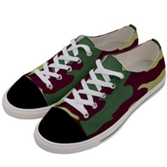 Camuflage Flag Green Purple Grey Women s Low Top Canvas Sneakers by Mariart