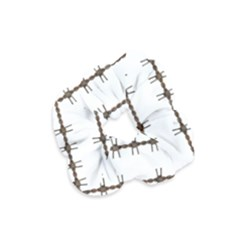 Barbed Wire Brown Velvet Scrunchie by Mariart