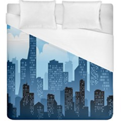 City Building Blue Sky Duvet Cover (king Size) by Mariart