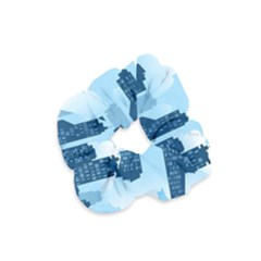 City Building Blue Sky Velvet Scrunchie by Mariart
