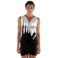 City History Speedrunning Wrap Front Bodycon Dress