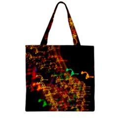 Christmas Tree Light Color Night Zipper Grocery Tote Bag by Mariart