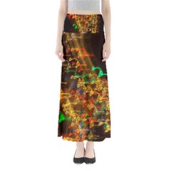 Christmas Tree Light Color Night Full Length Maxi Skirt by Mariart