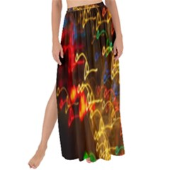 Christmas Tree Light Color Night Maxi Chiffon Tie Up Sarong