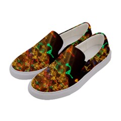 Christmas Tree Light Color Night Women s Canvas Slip Ons by Mariart