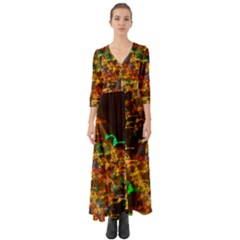 Christmas Tree Light Color Night Button Up Boho Maxi Dress