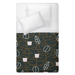Espresso Cofee Glass Line Chevron Duvet Cover (single Size) by Mariart