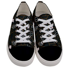 Espresso Cofee Glass Line Chevron Women s Low Top Canvas Sneakers