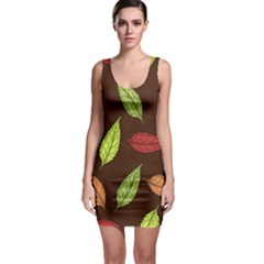 Autumn Leaves Pattern Bodycon Dress