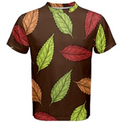 Autumn Leaves Pattern Men s Cotton Tee