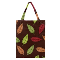Autumn Leaves Pattern Classic Tote Bag