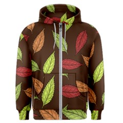 Autumn Leaves Pattern Men s Zipper Hoodie by Mariart