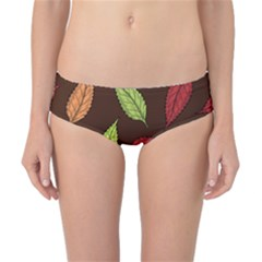Autumn Leaves Pattern Classic Bikini Bottoms
