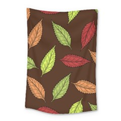 Autumn Leaves Pattern Small Tapestry
