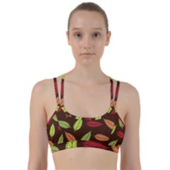 Autumn Leaves Pattern Line Them Up Sports Bra