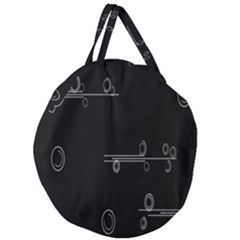 Feedback Loops Motion Graphics Piece Giant Round Zipper Tote by Mariart