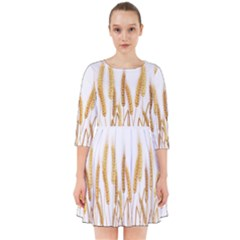 Wheat Plants Smock Dress by Mariart