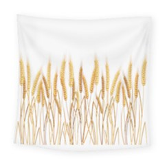 Wheat Plants Square Tapestry (large) by Mariart