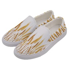 Wheat Plants Men s Canvas Slip Ons by Mariart