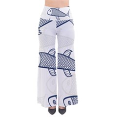 Fish Graphic Flooring Blue Seaworld Swim Water Pants by Mariart