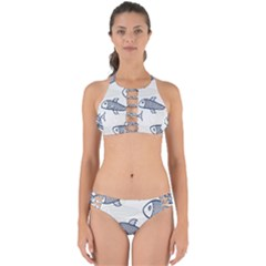 Fish Graphic Flooring Blue Seaworld Swim Water Perfectly Cut Out Bikini Set by Mariart