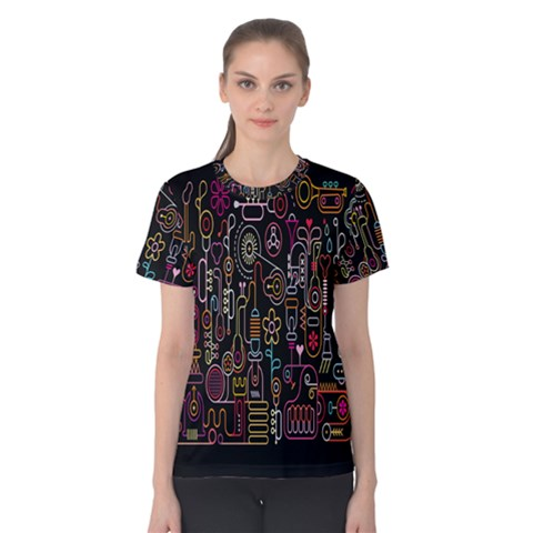 Features Illustration Women s Cotton Tee by Mariart