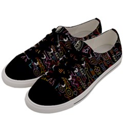 Features Illustration Men s Low Top Canvas Sneakers by Mariart