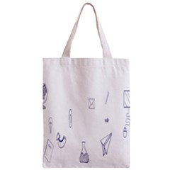 Formulas Laboratories Formulas Mathematics Chemistry Blue Zipper Classic Tote Bag by Mariart