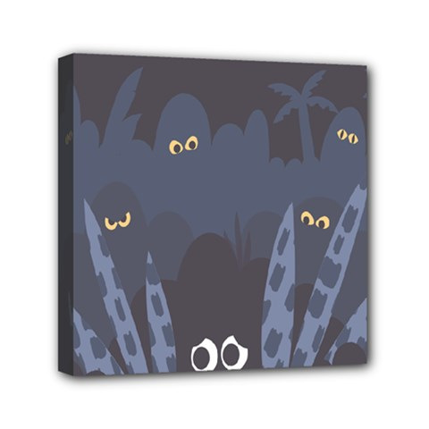 Ghost Halloween Eye Night Sinister Mini Canvas 6  X 6  by Mariart