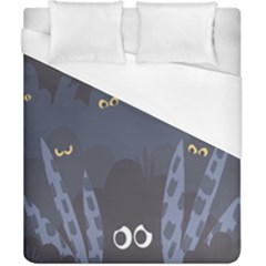 Ghost Halloween Eye Night Sinister Duvet Cover (california King Size) by Mariart